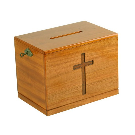 Boîte à offrandes en bois