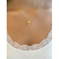 "Collier avec pendentif croix ""Hope"""