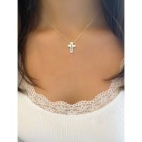 """Collier avec pendentif croix """"Love"""""""