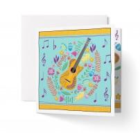 Carte double carrée sans texte : Guitare