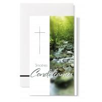 """Carte double Condoléances : """"Rivière dans la forêt"""""""