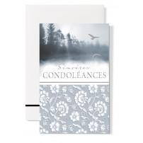 """Mignonette Condoléances : """"Oiseaux survolant un lac"""""""