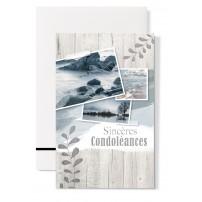 """Mignonette Condoléances : """"Images de mer sur clôture en bois"""""""