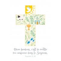Carte postale - Croix dessinée à partir de symboles