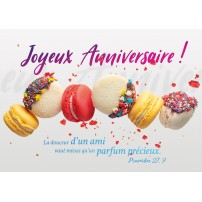 Carte postale - Macarons et brisures en l'air