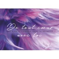 "Carte série ""Plume"" - fond violet"