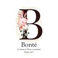 Carte postale - Lettre B - Bonté