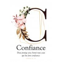 Carte postale - Lettre C - Confiance