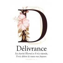 """Carte Lettre D - """"Délivrance"""""""