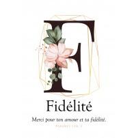 Carte postale - Lettre F - Fidélité