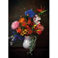 Carte postale - Bouquet sur fond sombre
