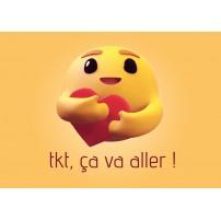 Carte postale - Emoji je pense à toi
