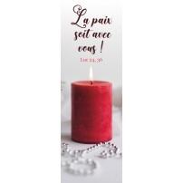 Signet - Bougie rouge sur fond blanc