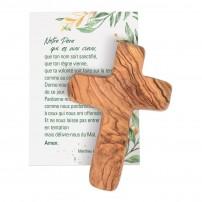 Croix en bois d'olivier fait main