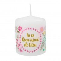 """Petite bougie motif """"Fleurs"""""""