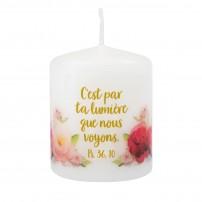 """Petite bougie motif """"Roses"""""""
