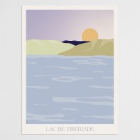 Poster 30x40 Tibériade - Le Lac