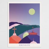 Poster 30x40 Jérusalem - Vue sur clochers