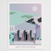 Poster 30x40 Jérusalem - Mont des Oliviers