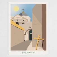 Poster 30x40 Jérusalem - Quartier Chrétien