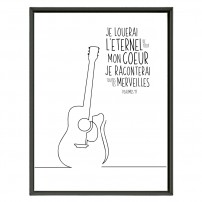 POSTER 30x40 - Psaume 9 - Guitare