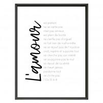 POSTER A4 -  1 Corinthiens 13 - L'amour