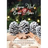 CARTE FA : Pommes de pin et décorations de Noël