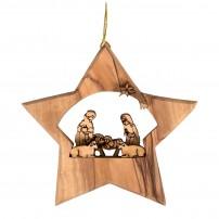 Décoration à suspendre Crèche dans étoile