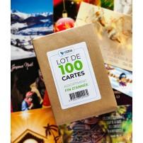 Lot 100 cartes fin de série : fin d'année
