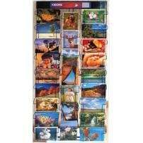Présentoir mural cartes postales 25 cases