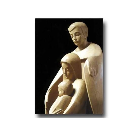 Mini Carte Fin D'année Jésus, Marie et Joseph