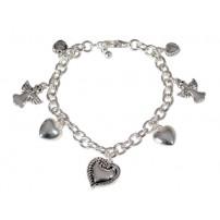 Bracelet métal coeur
