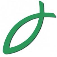 Ichthus adhésif vert