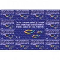 Carte postale de 13 autocollants