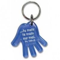 porte clé main (Bleu)