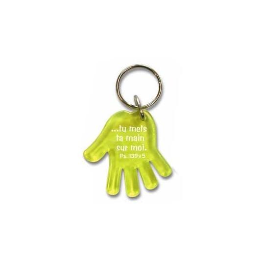 Porte-clés main jaune Ps139 v 5
