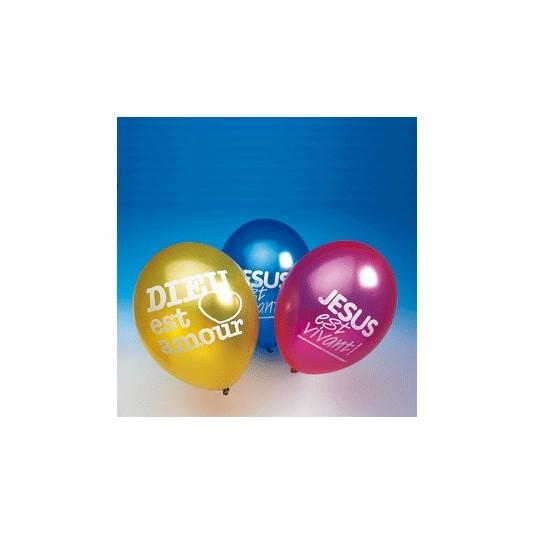 Ballon à gonfler texte biblique (paquet de10)