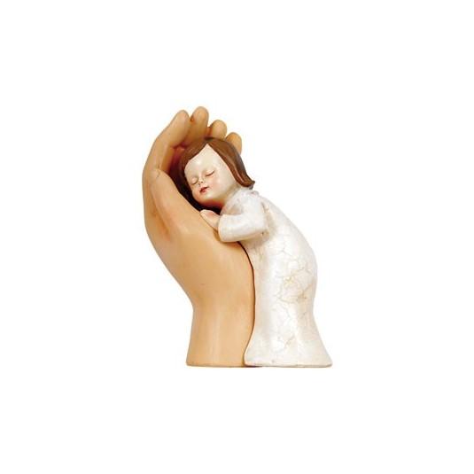 Figurine Fillette dans une main 12cm