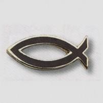 Pin's Ichthus noir