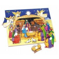 Puzzle crèche en bois 6 pièces