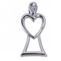 Pendentif ange coeur