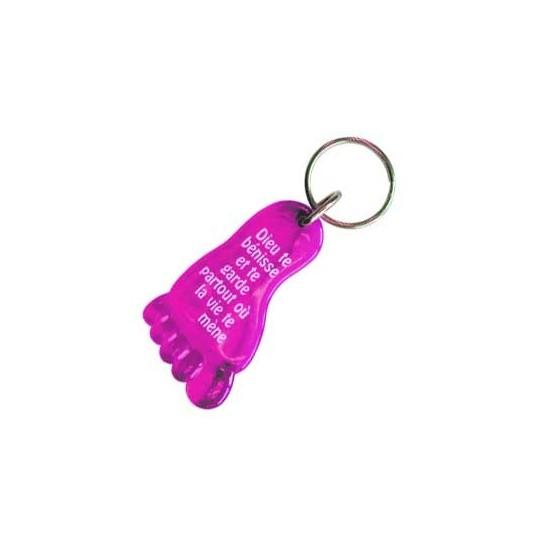 Porte-clés Pied rose