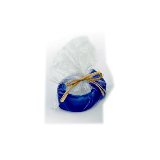 Bougeoir forme poisson bleu 6.5cm