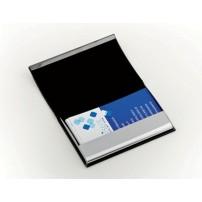 Boite pour 20 cartes de visite noire 10.5x6cm