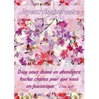 Carte VB - Fleurs mauves