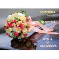 Carte VB - Bouquet de mariée