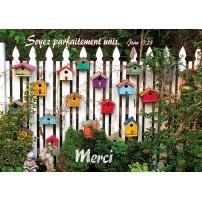 Carte VB - Nichoirs pour oiseaux sur clôture