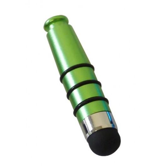 Mini stylet tactile vert métallique 4cm
