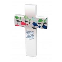 Croix en bois Accueillez-vous donc...Rom.15v7