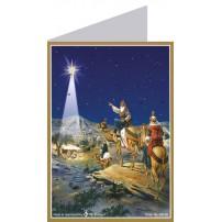 Carte de l'avent Mages se rendant à Béthéhem